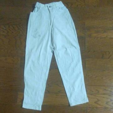 白 綿パンツ W58-62H87股下67股上29 美品
