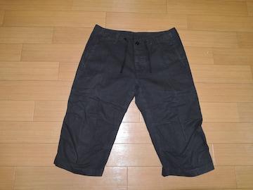 wjk クロップドパンツ M黒 7分丈パンツ イージーショーツ製品染