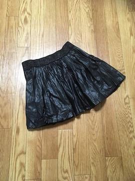 難ありINGNIイング・レザースカート・ブラック黒