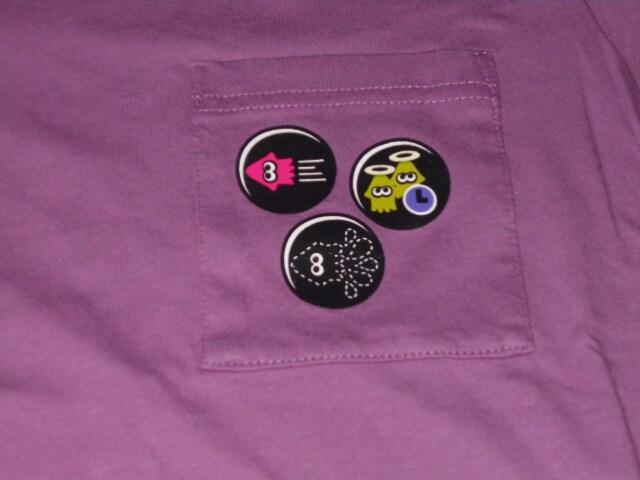 UNIQLO スプラトゥーン 半袖Tシャツ パープル S < ブランドの