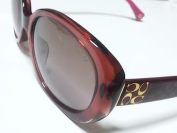 11634/COACHコーチ定価4万円位大きめな赤色のサングラスシグネ柄