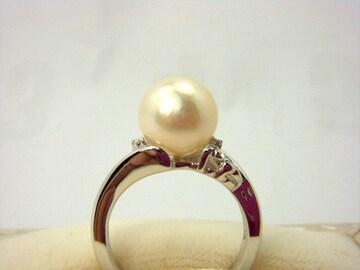 ★真珠指輪★あこや本真珠【Pt900】#11★新品