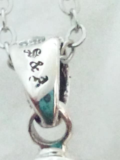 【S&A】SILVER 925 イーグル 太陽神 ストーン シルバー ネックレス ペンダント < 女性アクセサリー/時計の