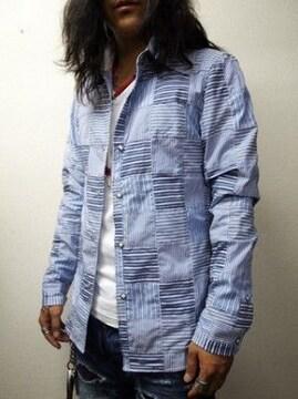 新品 ブリューテンブラット パッチワークシャツ S