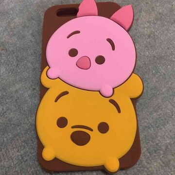iPhone6plus 6splus ツムツム プーさん シリコン ケース カバー
