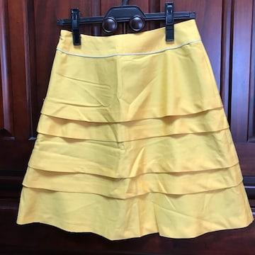 美品 ドゥアルシーヴ フリルスカート 台形スカート Mサイズ