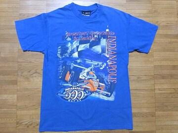 即決USA古着●インディ500フォトデザインTシャツ!アメカジヴィンテージ