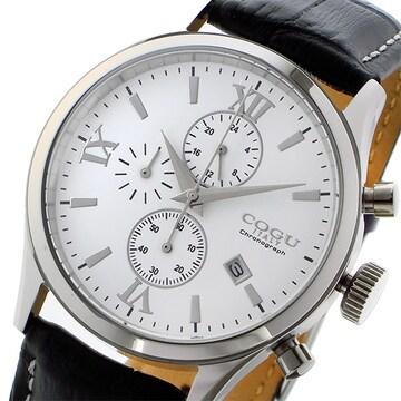 コグ COGU クオーツ クロノ メンズ 腕時計 C65-WH ホワイト