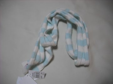 wb841 ROXY ロキシー ニットマフラー スカーフ 緑白