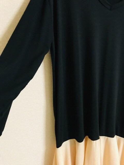 ☆新品☆薄手ゆったり切り替えフレアワンピース < 女性ファッションの