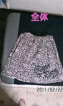 ワールドワイドラブ・ロゴプリント豹柄&隠れ猫キャミワンピ