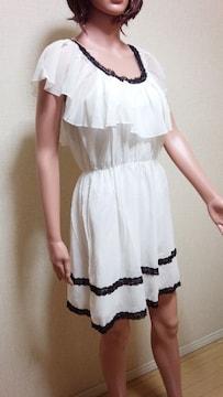 新品タグ付☆フリ�Aしふぉん沢山のワンピドレス  ☆3点で即落☆