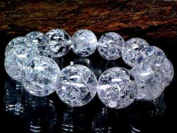 爆裂水晶§クラック水晶16ミリ数珠