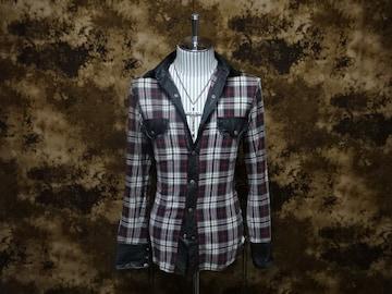 (定価71500)バックボーン・サイドレースフランネルシャツ