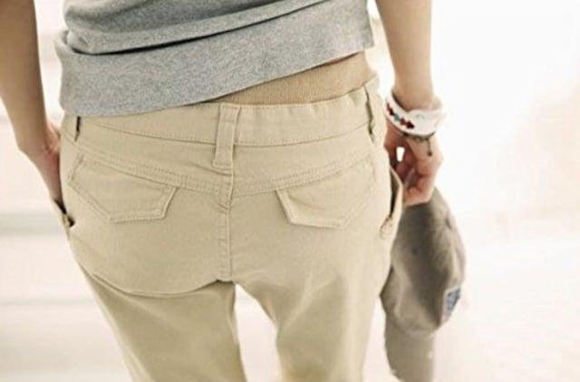 ポケットが可愛い★リラックス★カーゴパンツ(ベージュ.XXL寸) < 女性ファッションの
