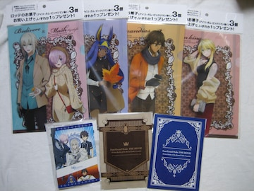劇場版Fate Grand Order  クリアファイル 全4種&ノート全2種&シールホルダー