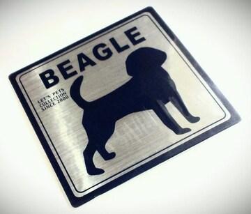 送定円kgドッグステッカーシルバーDOGStickerBEAGLE銀犬シールビーグルハンター狩猟