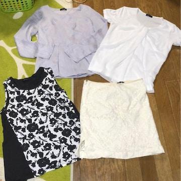 コムサ comme ca トップス レース スカート まとめ売り 長袖