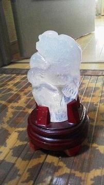 超レア☆水晶☆龍彫りの置物♪