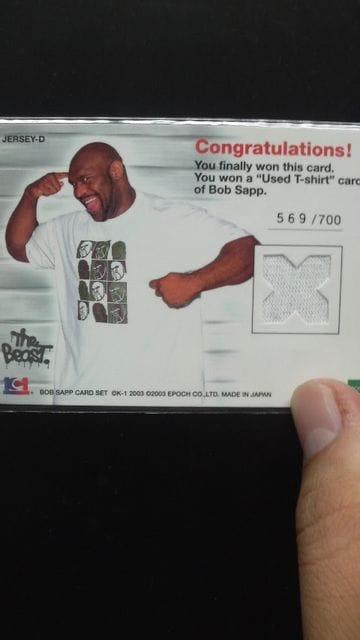 2003 ボブサップ コスチュームカード < トレーディングカードの