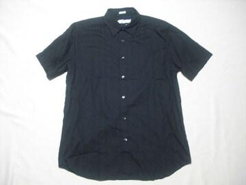 65 男 CK CALVIN KLEIN カルバンクライン 黒 半袖シャツ Mサイズ