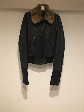 LGB ルグランブルー S-BOMBER ファー レザージャケット