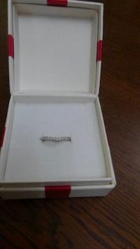 V字型ダイヤモンドリング Pt900 0.20ct 11号