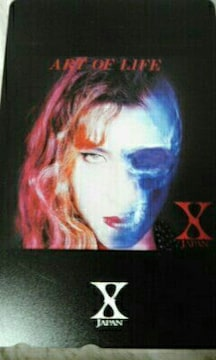 新品未使用 X JAPAN テレカ ART OF LIFE YOSHIKI hide ToshI