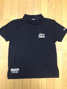 メンズ ポロシャツ ブラック Mサイズ