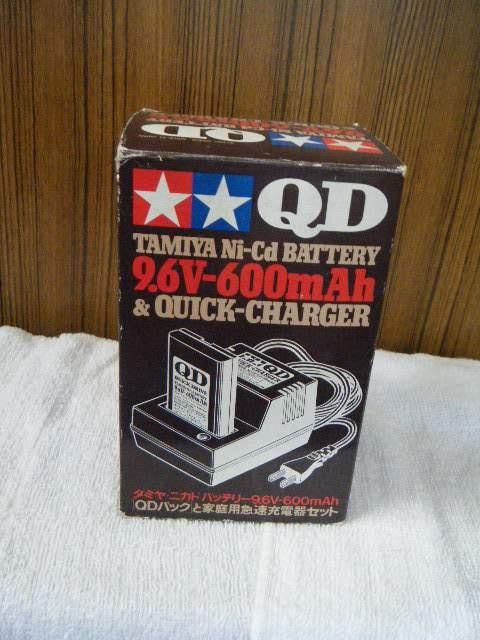 タミヤニカドバッテリー9.6V-600mAhQDパックと家庭用急速充電器  < ホビーの