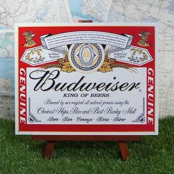 新品【ブリキ看板】Budweiser/バドワイザー 缶ラベル