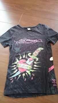 edHardy「ハートダガープリントTシャツ」エドハーディー