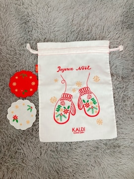 KALDI★巾着&コースターセット
