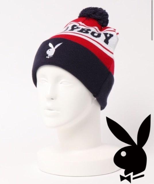 2020年タグ付き新品プレイボーイ/ブランドロゴ刺繍キャップ帽子F  < ブランドの