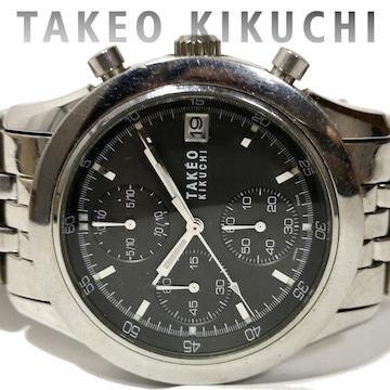 良品 タケオキクチ【クロノグラフ】TK メンズ腕時計