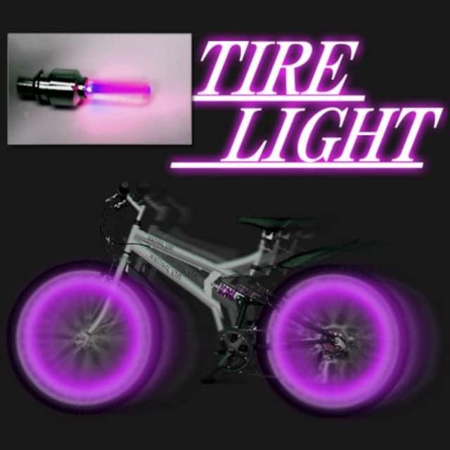 LEDホイールフラッシュ☆パープル☆2個1セット < 自動車/バイク