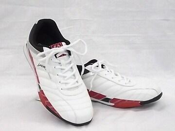 ラーキンス 6236 26.5cm ホワイト/レッド LARKINS スニーカー