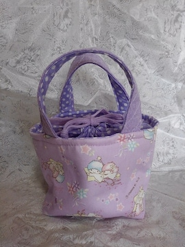 ハンドメイド キキララお弁当袋 紫
