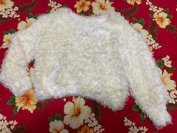 新品未使用☆NICE CLAUP☆可愛いモフモフホワイトセーター☆