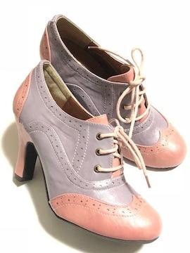 新品<高級合成皮革デザイン靴>ANITA ARENBERG/アニタアレンバーグ(S)