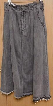 MR】�@ローズバッド デニムロングスカート Sサイズ