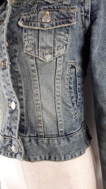 ★セシルマクビー★袖が取れる2ウェイ★ダメージGジャン★9-7 < 女性ファッションの