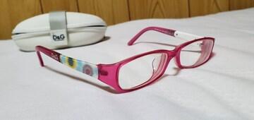 正規良 ドルチェ&ガッバーナ D&G フローラルアートメガネ 花柄 グラマラスフラワー ピンク