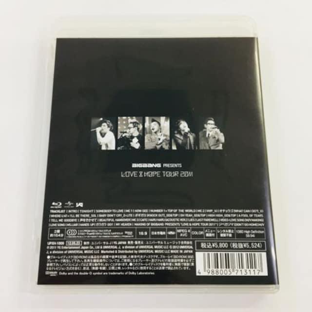 送料無料 BIGBANG Blu-ray LOVE&HOPE TOUR 2011 < タレントグッズの