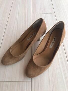 美品 DIANA ダイアナ スウェードパンプス 靴 レディース 23