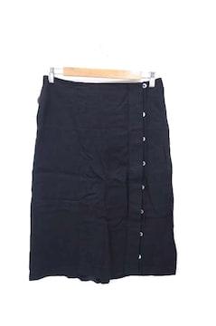 JIL SANDER(ジルサンダー)18SS レーヨンリネンボタンデザインスカートスカート