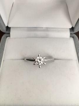 ダイヤモンド リング Pt900 0.39ct F SI-2 5.1g