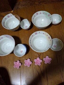 花の舞 箸置き付 茶漬揃え 4客揃