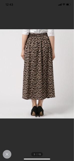 アルシーブ archives レオパード柄 ロングスカート 美品 豹柄 < ブランドの