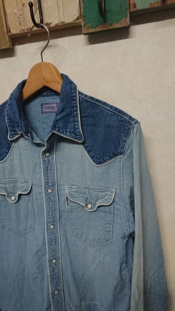 BLUE BLUE 切替デニムシャツ 2 インディゴ < ブランドの